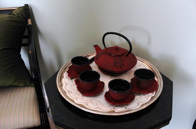 chinese, tea ceremony, teaset, red lacquer,