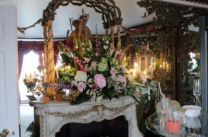 floral display, wedding reception, bridal, dorchester hotel,