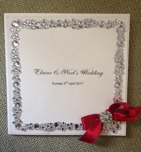wedding invite, crystals, CG Bridal,