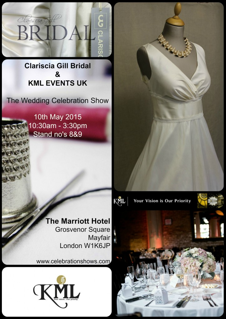 Clariscia Gill Bridal at the Celebrations Wedding Show London 10th May