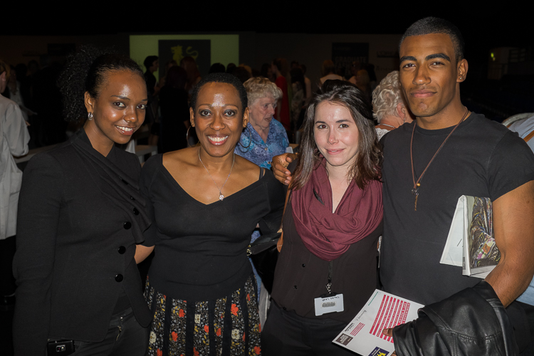 Clariscia takes team to graduate fashion week show; Camille, Shelby and Anthony. Photo - Trevor Fogah-Griffths