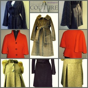 Coats and jackets by Clariscia in a range of British wool's.  Tweeds, twills, flannels and long haired coatings. Prices from £285 for rtw