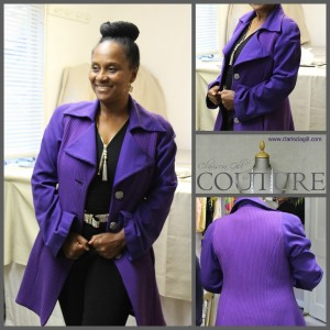 laides coat, refer coat, wool coat, purple coat, couture coat,