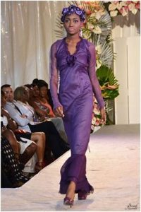 runway, catwalk, model, prince, purple, evening dress, hot couture, St. Lucia, caribbean,
